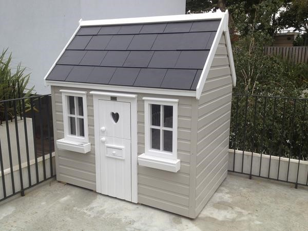 Cottage playhouse with slate roof