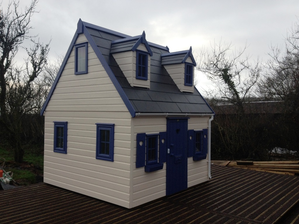 Childrens Playhouse With First Floor Gallery Playhouses