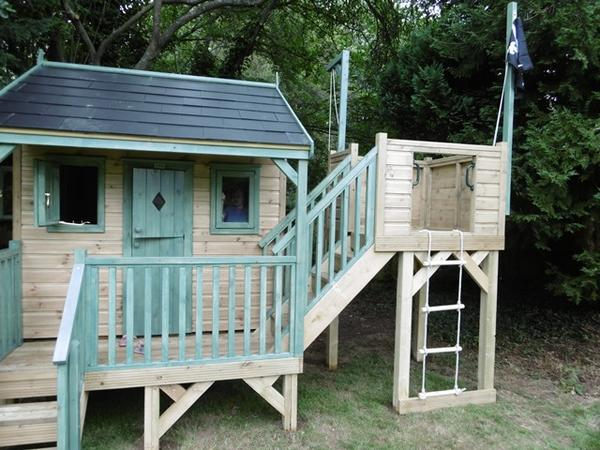 Playhouse with slate roof