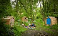 Picnic time with hidey hole hobbit house