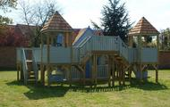 Childrens two storey playhouse