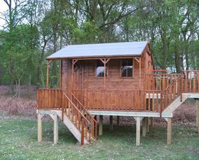 Childrens Treehouse with decked area