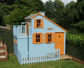 Front Childrens playhouse with firemans pole