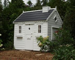 Garden cottage playhouse with slate roof