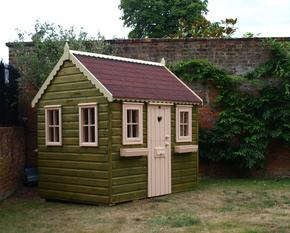Garden cottage playhouse with opening windows