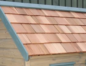 Roof options the playhouse company for How to shingle a shed
